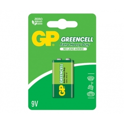 9V GP Greencell Batteri